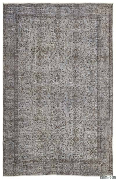 "Over-dyed Turkish Vintage Rug - 5'8"" x 8'10"" (68 in. x 106 in.)"