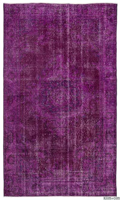 "Over-dyed Turkish Vintage Rug - 4'9"" x 8'1"" (57 in. x 97 in.)"