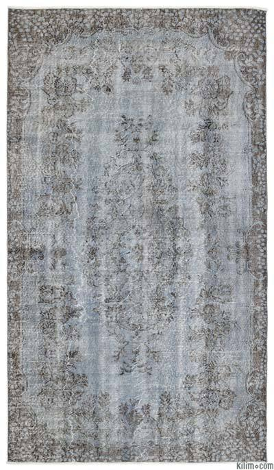 "Over-dyed Turkish Vintage Rug - 5'5"" x 9'7"" (65 in. x 115 in.)"