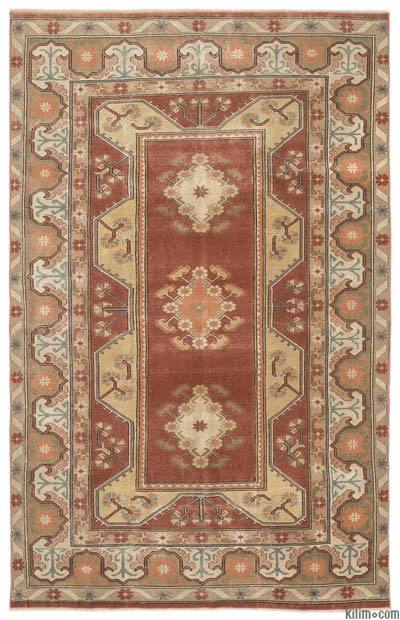 Turkish Vintage Rug - 5'11'' x 9'4'' (71 in. x 112 in.)