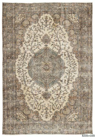 "Turkish Vintage Area Rug - 6'7"" x 9'7"" (79 in. x 115 in.)"