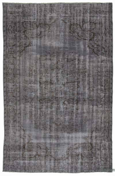 Grey Over-dyed Turkish Vintage Rug - 5' x 8'2'' (60 in. x 98 in.)