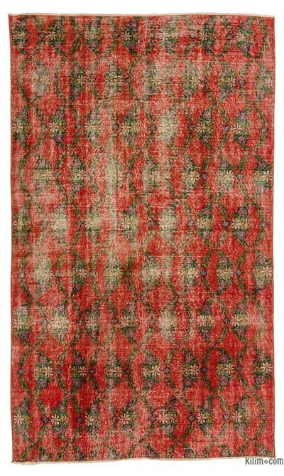 Turkish Vintage Area Rug - 4'9'' x 7'10'' (57 in. x 94 in.)