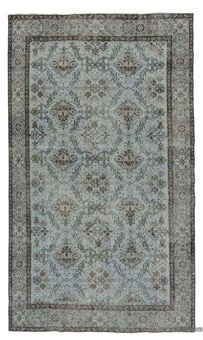 Over-dyed Turkish Vintage Rug - 4'10'' x 8'4'' (58 in. x 100 in.)