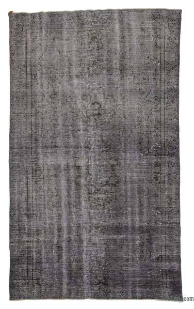 Grey Over-dyed Turkish Vintage Rug - 5'9'' x 9'8'' (69 in. x 116 in.)