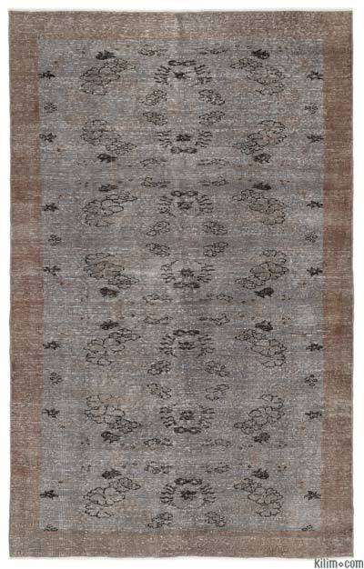 Turkish Vintage Area Rug - 5'10'' x 9'5'' (70 in. x 113 in.)