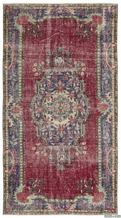 "Turkish Vintage Area Rug - 5'4"" x 9'10"" (64 in. x 118 in.)"