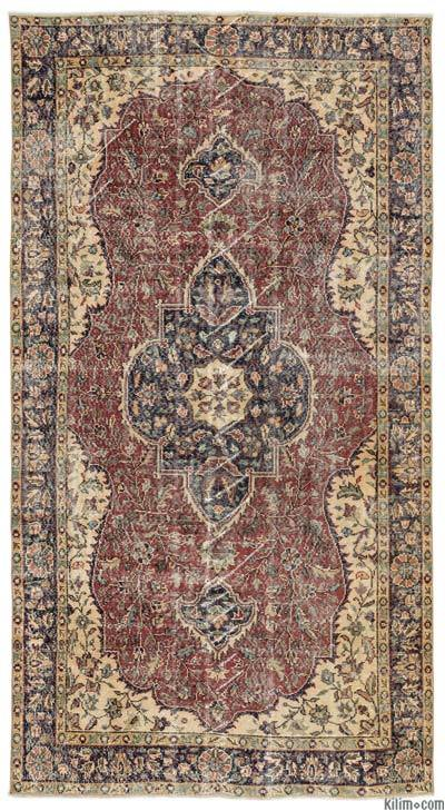 "Turkish Vintage Area Rug - 5'1"" x 9'7"" (61 in. x 115 in.)"