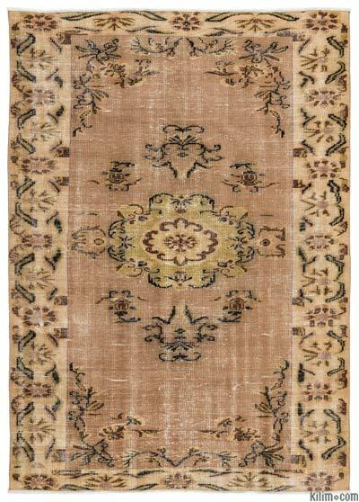 Turkish Vintage Area Rug - 5'8'' x 8' (68 in. x 96 in.)