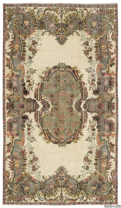 Turkish Vintage Area Rug - 5'7'' x 9'11'' (67 in. x 119 in.)