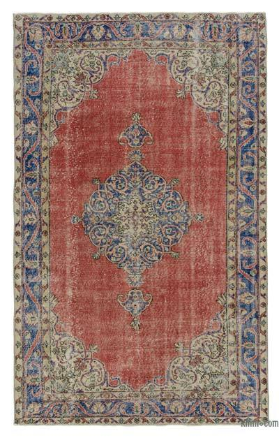 Turkish Vintage Area Rug - 5'5'' x 8'11'' (65 in. x 107 in.)