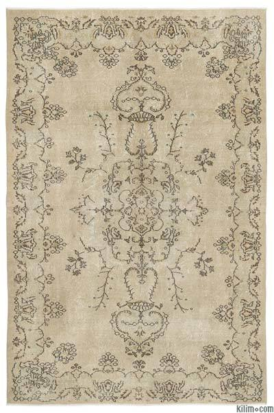 Over-dyed Turkish Vintage Rug - 6'5'' x 9'7'' (77 in. x 115 in.)