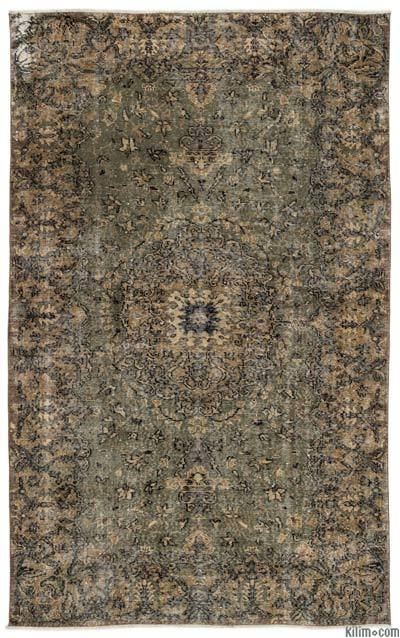 Turkish Vintage Area Rug - 5'6'' x 8'10'' (66 in. x 106 in.)