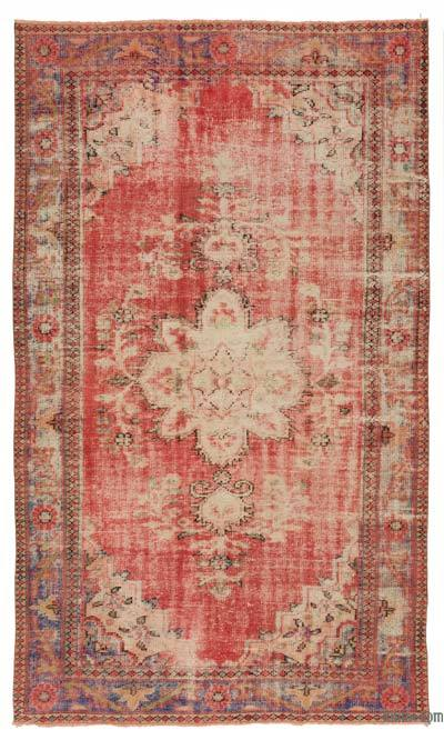Turkish Vintage Area Rug - 5'7'' x 9'4'' (67 in. x 112 in.)