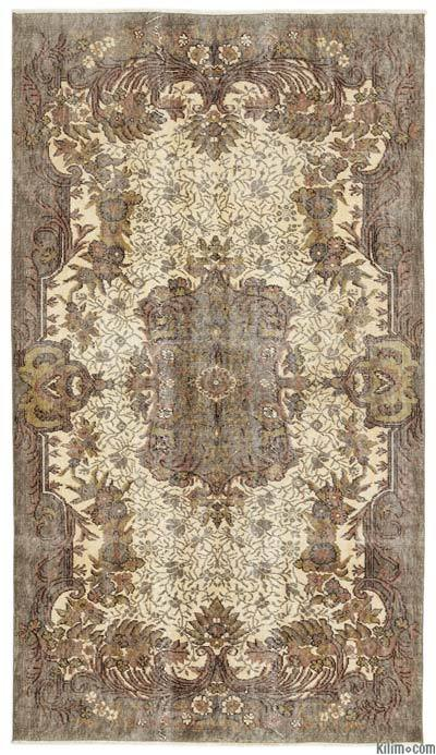 "Turkish Vintage Area Rug - 5'1"" x 8'11"" (61 in. x 107 in.)"