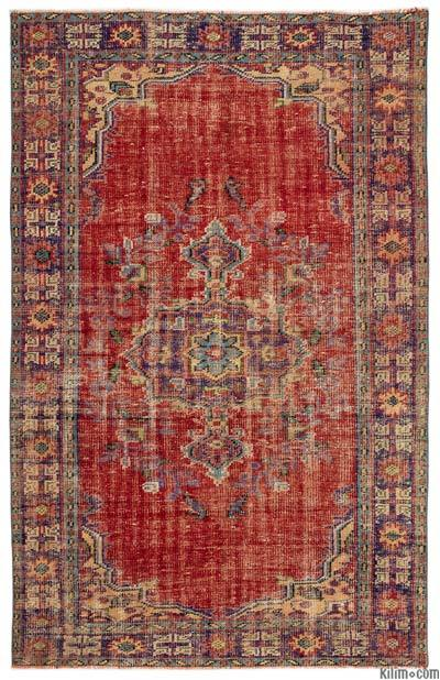 Turkish Vintage Area Rug - 5'9'' x 8'11'' (69 in. x 107 in.)