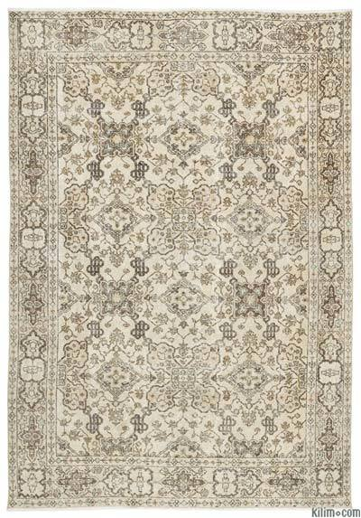 Turkish Vintage Area Rug - 6'9'' x 9'10'' (81 in. x 118 in.)