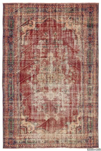 Turkish Vintage Rug - 5'7'' x 8'7'' (67 in. x 103 in.)