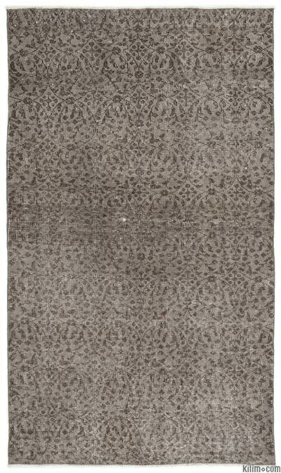Grey Over-dyed Turkish Vintage Rug - 3'10'' x 6'7'' (46 in. x 79 in.)