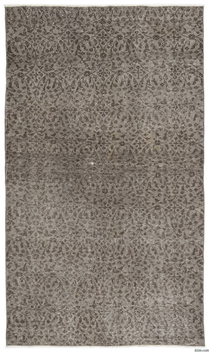 K0014657 Grey Over Dyed Turkish Vintage Rug 3 10 X 6 7