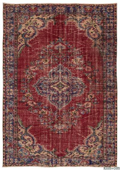 "Turkish Vintage Area Rug - 6'3"" x 8'11"" (75 in. x 107 in.)"