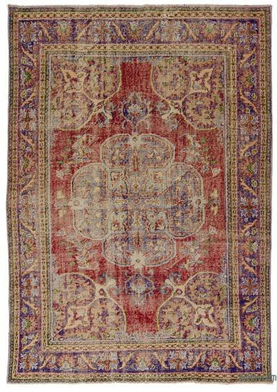 Turkish Vintage Area Rug - 6'2'' x 8'8'' (74 in. x 104 in.)