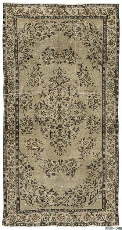 "Turkish Vintage Area Rug - 4'6"" x 8'5"" (54 in. x 101 in.)"