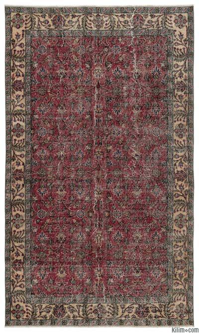"Turkish Vintage Area Rug - 4'10"" x 8'2"" (58 in. x 98 in.)"