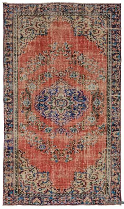 Turkish Vintage Area Rug - 5'4'' x 9'2'' (64 in. x 110 in.)
