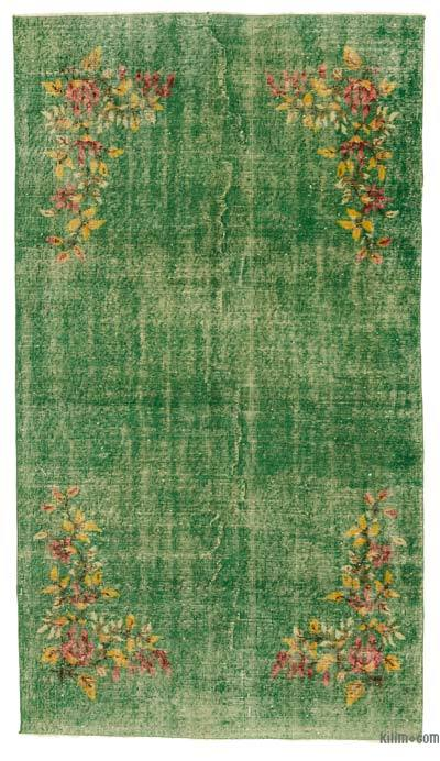 Turkish Vintage Area Rug - 4'3'' x 7'7'' (51 in. x 91 in.)