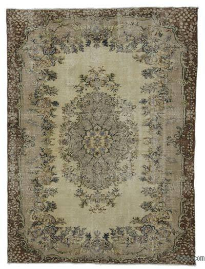 "Turkish Vintage Area Rug - 6'5"" x 8'5"" (77 in. x 101 in.)"
