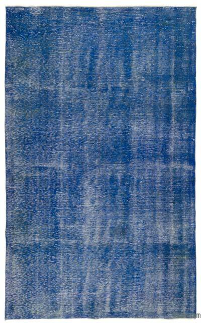Blue Over-dyed Turkish Vintage Rug - 6'7'' x 10'3'' (79 in. x 123 in.)