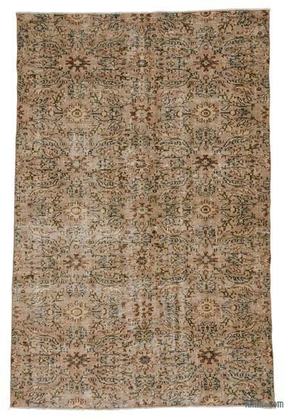 Turkish Vintage Area Rug - 5'10'' x 8'7'' (70 in. x 103 in.)