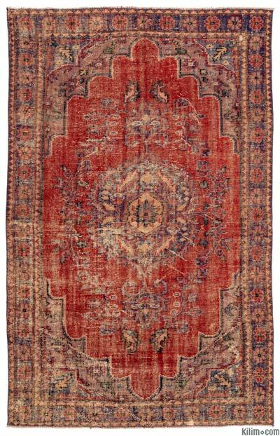 Turkish Vintage Area Rug - 6'1'' x 9'7'' (73 in. x 115 in.)