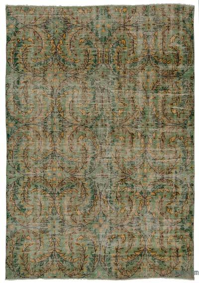 Turkish Vintage Area Rug - 6'3'' x 9' (75 in. x 108 in.)