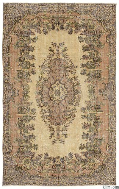 Turkish Vintage Area Rug - 5'8'' x 9'1'' (68 in. x 109 in.)