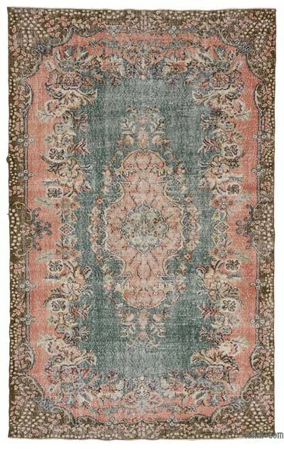 Turkish Vintage Area Rug - 5'11'' x 9'7'' (71 in. x 115 in.)