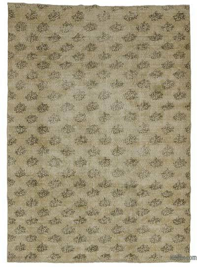 Turkish Vintage Area Rug - 6'4'' x 9' (76 in. x 108 in.)