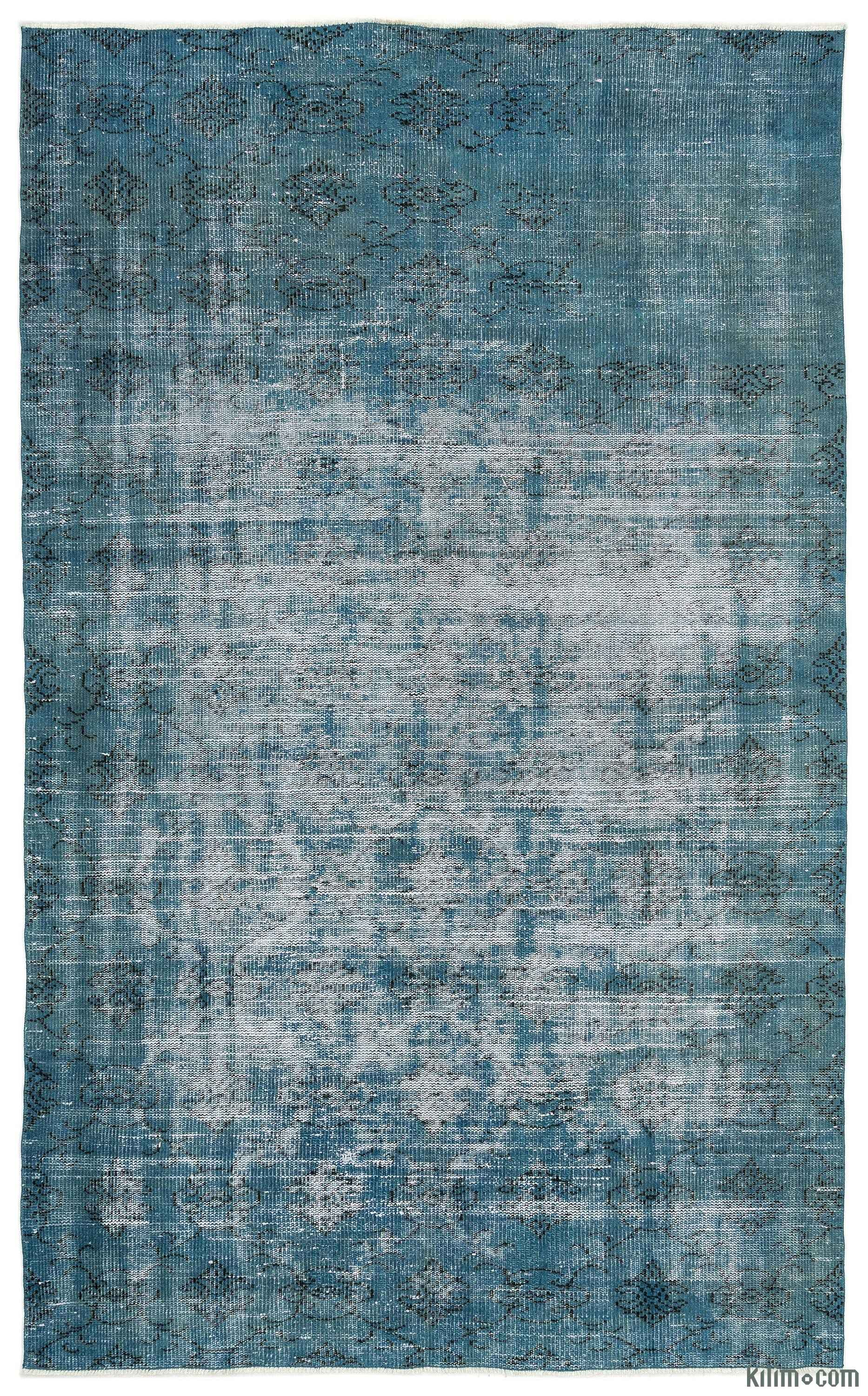 Very K0014977 Turquoise Over-dyed Turkish Vintage Rug RH82