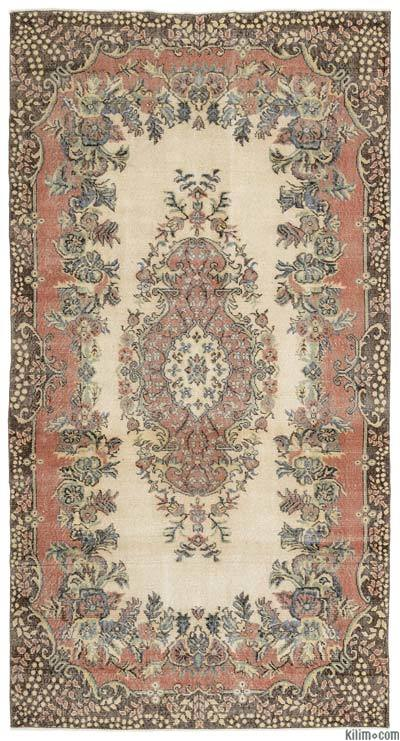 "Turkish Vintage Area Rug - 5'5"" x 10'2"" (65 in. x 122 in.)"