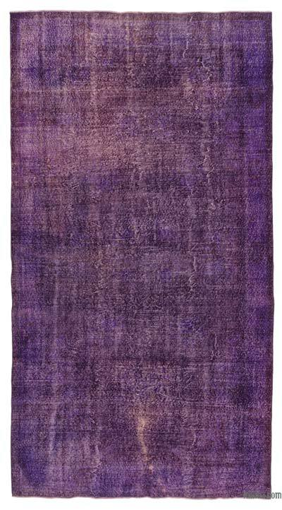 "Over-dyed Turkish Vintage Rug - 5'9"" x 10'10"" (69 in. x 130 in.)"