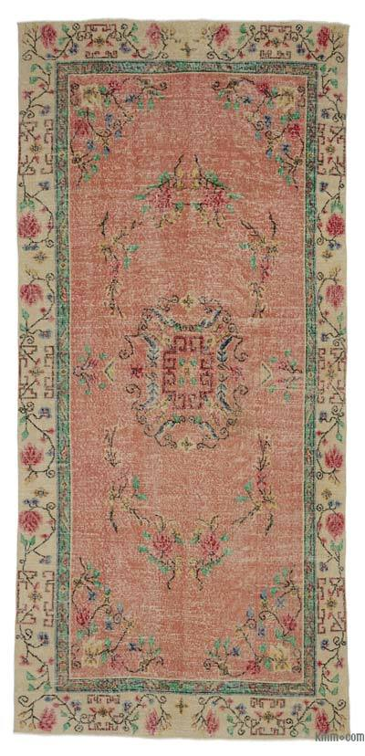 "Turkish Vintage Area Rug - 4'6"" x 9'10"" (54 in. x 118 in.)"