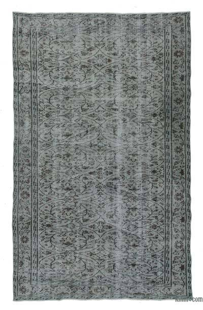 Grey Over-dyed Turkish Vintage Rug - 5' x 8'1'' (60 in. x 97 in.)
