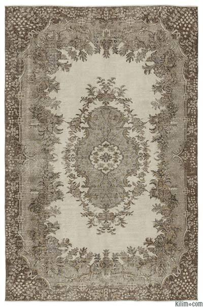 Over-dyed Turkish Vintage Rug - 6'4'' x 9'6'' (76 in. x 114 in.)