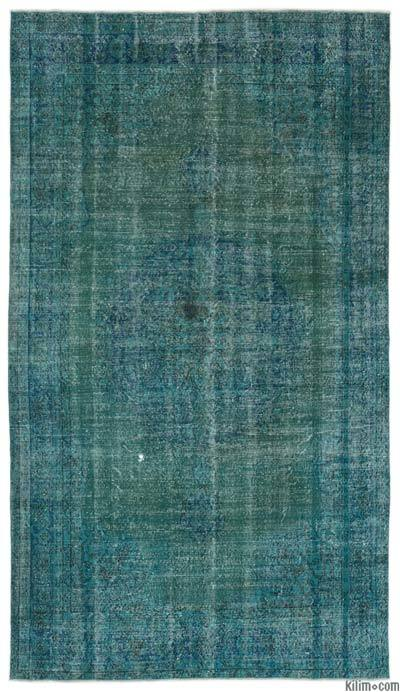 "Over-dyed Turkish Vintage Rug - 6'2"" x 11' (74 in. x 132 in.)"