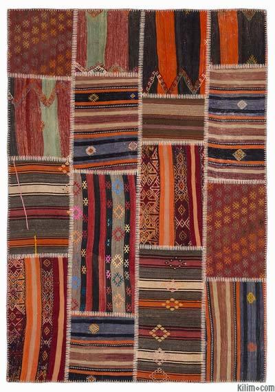 Vintage Patchwork Rugs Kilim Rugs Overdyed Vintage Rugs