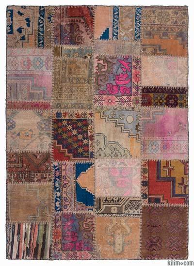 Multicolor Turkish Patchwork Rug K0015212