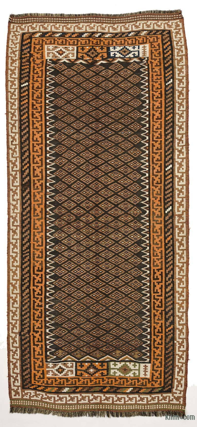 k0015311 brown vintage shiraz kilim rug. Black Bedroom Furniture Sets. Home Design Ideas