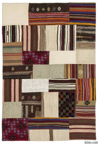 "Turkish Kilim Patchwork Rug - 4'1"" x 6' (49 in. x 72 in.)"