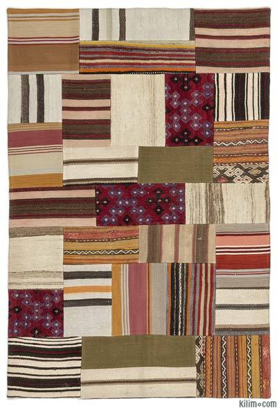 Turkish Kilim Patchwork Rug - 4' x 6' (48 in. x 72 in.)